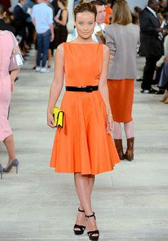 Ralph Lauren orange dress