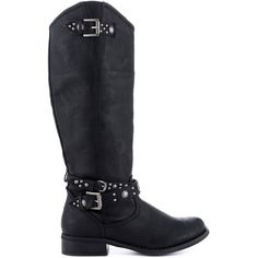 G by Guess Women's Heldaa - Black LL ($86) ❤ liked on Polyvore featuring shoes, boots, black, knee-high boots, long boots, low heel boots, knee boots, g by guess boots and low heel knee high boots