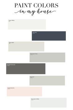 My Home: Interior Paint Colors Benjamin Moore interior paint colors. Home color palette. neutral and Neutral Paint Colors, Paint Color Schemes, Bedroom Paint Colors, Interior Paint Colors, Paint Colors For Home, Neutral Colour Palette, House Colors, House Paint Interior, Home Interior