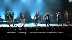Andy Stanley's North Point Community Church attempted a reboot of the  British Invasion during their official worship service on Sunday.  They described it as a Beatles medley on their Facebook page.  They sang segments from Beatles classics, ending with Hey Jude. They called  upon their audie