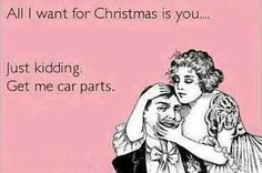 For Christmas. #Christmas #car #joke