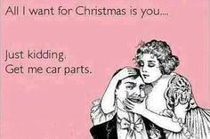 For Christmas. #Christmas #car #joke