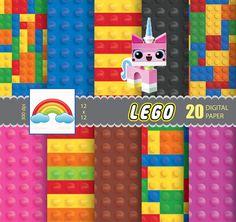 Lego - paper - Digital Paper - background - 20 Sheets - Digital Scrapbooking Paper - Commercial Use