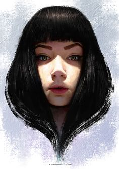 """Elvish Prince"" - Isabella Morawetz {figurative art beautiful female head woman face portrait cropped digital painting #loveart} morawetzart.com"