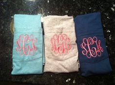 Monogrammed Pocket Tee by IMakeItYours on Etsy, $19.95