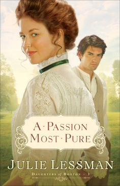A Passion Most Pure by Julie Lessman. Daughters of Boston book 1.  Wonderful Catholic Romance books, just an added bonus that they take place in the very early 20th century :) I definitely recommend this series.