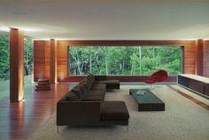 Living room. BR House, by Marcio Kogan. Rio de Janeiro, Brazil.
