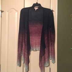 Asymmetrical Cardigan Size small asymmetrical ombré cardigan. Great condition!! Sweaters Cardigans
