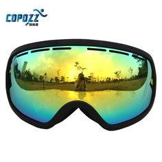 ab574639214 Copozz Big Frame Snow Ski Goggles Professional UV400 Anti fog Skiing