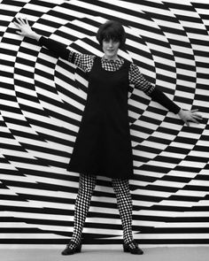 Giorgio Casali background and dress Krizia 1966