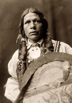 Here we present a dramatic image of Koacute-pi Buffalo Mountain, a Tewa Indian Brave. It was taken in 1905 by Edward S. Curtis
