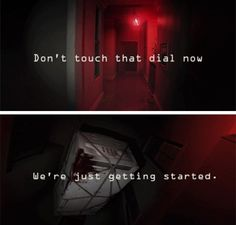"""""""Don't touch that dial now! We're just getting started...."""""""