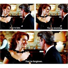 Julia Roberts & Richard Gere in 'Pretty Woman Eric Roberts, Old Movies, Great Movies, Pretty Woman Film, Pretty Woman Quotes, Love Movie, Movie Tv, Favorite Movie Quotes, Richard Gere
