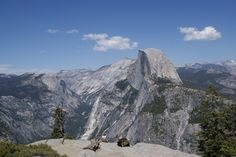 Looking at Half Dome from Glacier Point, Yosemite National Park, CA