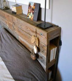 Transforming wooden pallets: 15 great decorating ideas - Do it ! Ikea Hack Bedroom, Bedroom Decor, Bedroom Bed, Handmade Furniture, Diy Furniture, 2x4 Wood Projects, Interior Rugs, Headboards For Beds, Trendy Bedroom