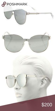 3d47b07bdc8 Karen Walker Mirrored Star Sailor Sunglasses Mirrored shield silhouette  outlined with sleek metal Size  65mm