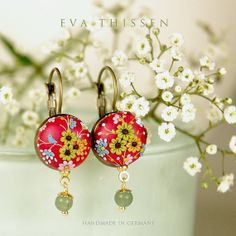Minuet. Pretty petite earrings in dustypink colour. by EvaThissen