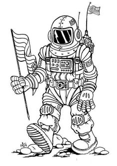 Astronaut Moon Coloring Pages - Let's look at the sky! The coloring pictures on this page are dedicated to the topic astronaut. In the category Astronauts, you will find different mo. Space Coloring Pages, Moon Coloring Pages, Preschool Coloring Pages, Mermaid Coloring Pages, Free Coloring Sheets, Online Coloring Pages, Coloring Pages To Print, Printable Coloring Pages, Coloring Pages For Kids