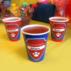 PAW Patrol Party Cup Wrappers