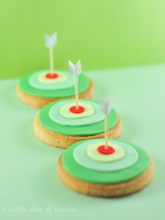 Disney movie inspired kid birthday parties - these target cookies are listed for Robin Hood but would work great for Brave, too!