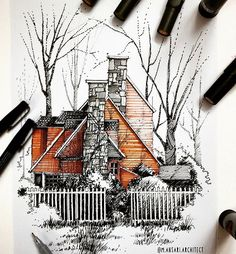 Interesting Find A Career In Architecture Ideas. Admirable Find A Career In Architecture Ideas. Architecture Drawing Sketchbooks, Architecture Concept Drawings, Art And Architecture, Architecture Definition, Sketches Arquitectura, Architect Drawing, Building Sketch, Interior Sketch, Sketch Design
