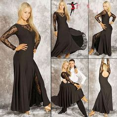 lace Ballroom dress long sleeve,ballroom Performance dance wear,Flamingo dance wear, stage dancing wears on AliExpress.com. $115.00