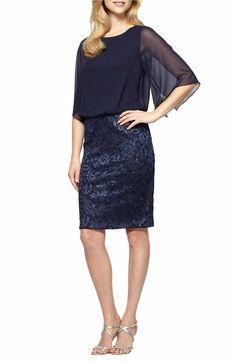 Main Image - Alex Evenings Sequin Blouson Dress