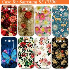 Colorful Brilliant Rose Peony Flowers phone case housing hard back diy patterns case for samsung s3 i9300