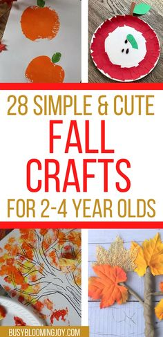 Toddler Arts And Crafts, Fall Arts And Crafts, Preschool Arts And Crafts, Easy Fall Crafts, Toddler Art Projects, Daycare Crafts, Fall Preschool, Fall Crafts For Kids, Pumpkin Preschool Crafts