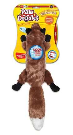 Pawdoodles Krinklers Dog Toy, Fox, Large -- Special dog product just for you. See it now! : Dog Toys