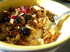 """The """"Indulgent Granola"""" is the best granola I have ever tasted. I need to experiment with a vegan version."""