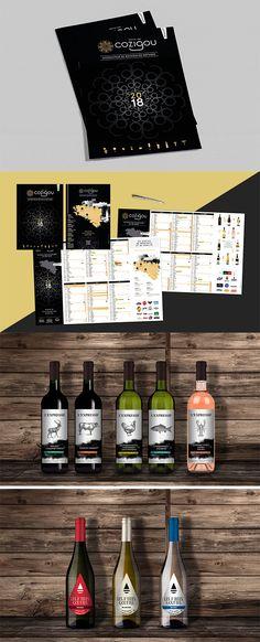 COZIGOU Calendriers et agenda 2018. Étiquettes vins.