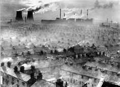 Air Quality Now - Pollution Basics - Health effects.. This looks like Sheffield as I remember it ( Twin Towers) before the Clean air act of 1965