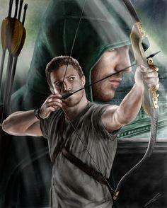 Arrow (Stephen Amell) drawing by Saxa-XCII.deviantart.com on @deviantART