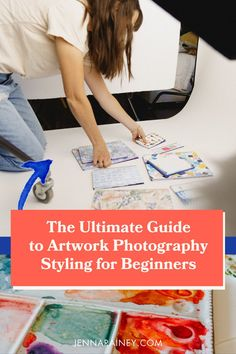 The ultimate guide to artwork photography styling for beginners. Creating scroll-stopping images that help you stand out from the crowd ain't no thing, I get it, but there's actually some really simple ways of breaking it down, so I'm gonna give you 3 tips for styling photos of your artwork to help you out. #artwork #photography Creating A Business Plan, Creative Business, Business Tips, Selling Art Online, Great Photographers, Blog Tips, Professional Photographer, Sell Your Art, Fashion Photography