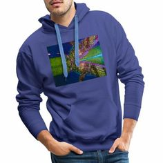Double Croco Chroma - Sweat-shirt à capuche Premium pour hommes Sweat Shirt, Hoodies, Shirts, Fashion, Fashion Styles, Moda, Sweatshirts, Parka, Dress Shirts