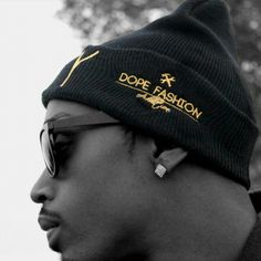 """Gold Vanity Beanie. Public Vanity """"Dope Evidence Collection""""  By giving you a higher definition of design quality, and design concepts in our garments we make you an individual instead of blending into the crowd. Pvclothing.com join the innovation of street fashion. #KeepCalm #Its #PublicVanityClothing #VanityBeenie #DopeEvidence #robots #dope #winter #innovation  #creativity #urbanfashion #ChrisVanity #ArtisticExpression #faith #blessing #success #PV #DopeRobot #DopeFashion #Karmaloop…"""