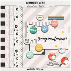 Quality DigiScrap Freebies: Commencement mini kit freebie from The Digital Press