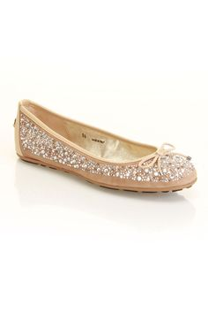 Jimmy Choo Weber Flat In Nude.