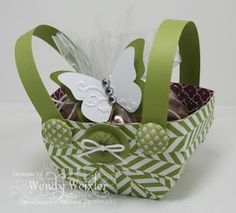 Love this little basket idea...so, so cute, easy and quick!  Late (as they say, better late than never! :) May Day baskets going out tomorrow to staff and friends!  Just have to figure out what I have to fill them with at this late date!