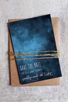 constellation wedding invitation - brides of adelaide