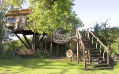 The tree house structures are usually made from sustainable wood from North America such as spruce and pine - and are then finished with cedar and oak. Description from dailymail.co.uk. I searched for this on bing.com/images