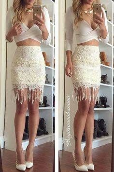 Crochet Lace Fringe Skirt – Colors of Aurora