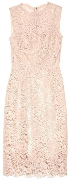 DOLCE & GABBANA Sleeveless floral-lace dress