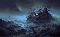 Tree-crowned Hill by FerdinandLadera on DeviantArt