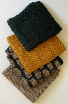 Busy Bee - kitchen dishcloths knitting some Mason-Dixon Ball Band - free pattern