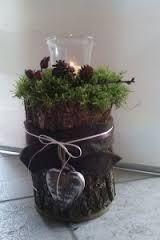 result for tree trunk garden deco - Diy Winter Deko Christmas Pine Cones, Rustic Christmas, Christmas Holidays, Christmas Crafts, Christmas Decorations, Easy Ornaments, Garden Deco, Garden Care, My Secret Garden