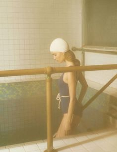 There's more to a bathing suit than meets the eye. This truism—and photographer Deborah Turbeville's famed 1975 Vogue portfolio of the same name—inspire a solo spa outing.