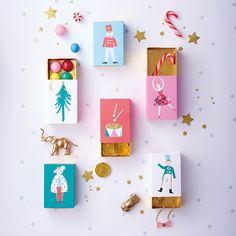 6 mini boîte cadeaux casse-noisettes pour offri des petites attentions DIY - Annikids