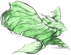 A gorgeous drawing of the Nature Sprite from Fantasia 2000!